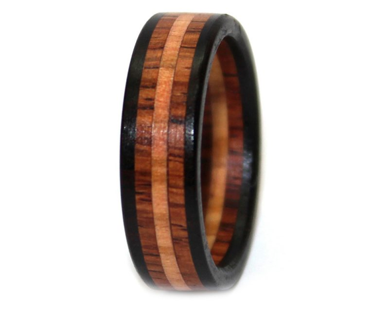 santos turquoise offset pretty wedding inlay made pin wood bentwood wooden with custom and ring handcrafted rosewood rings