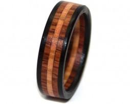 wooden ring custom blackwood rosewood olive 2