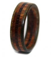 lignum rosewood and wenge wooden anniversary ring