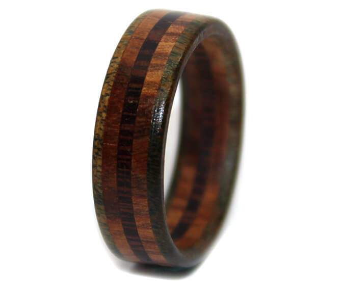 india rings from fiber wedding and wood rosewood carbon maple p east handmade ring band burl