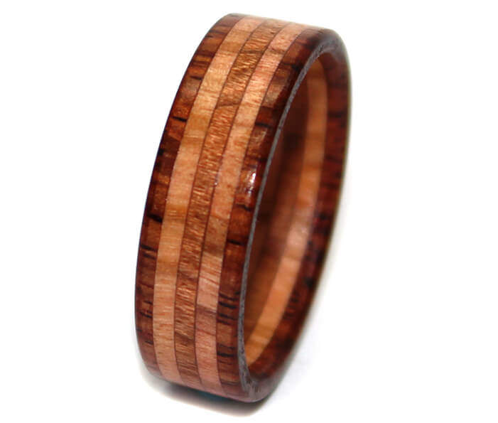 e ring coco indian wooden shop cocobolo layered rings rosewood custom