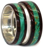 WoodenRings.com wood wedding rings sets handmade in USA