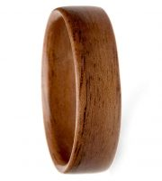 Walnut wood engagement ring for men