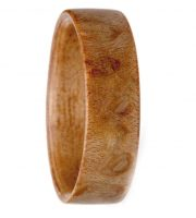 Burl wooden engagement ring for promise or engagement