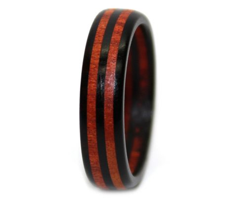 Black and red wooden promise bands bloodwood