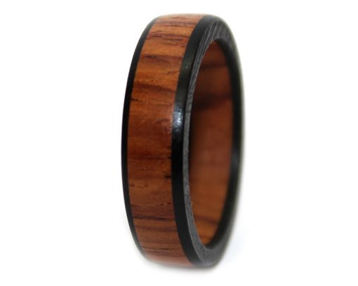 Honduras rosewood custom wooden rings for men