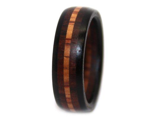 rosewood mahogany wood rings women band