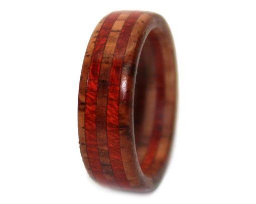 Rosewood and Bloodwood wooden promise bands for gift