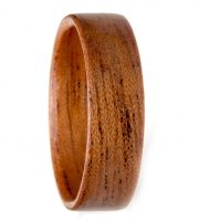 Mahognany and bentwood wooden wedding rings