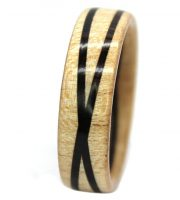 Blackwood and maple custom wooden rings