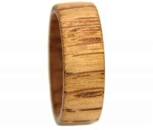 White Oak custom wood rings grain pattern for wedding