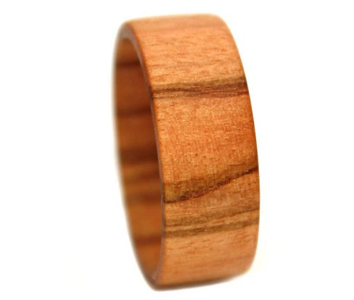 Olivewood custom wooden rings striped for promise