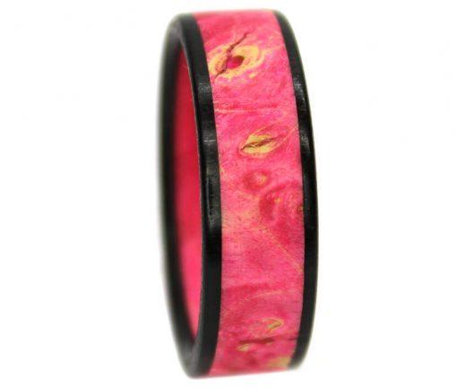 Pinkwood burl wooden ring bands custom made