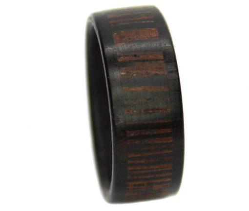 Wenge and blackwood wooden wedding bands