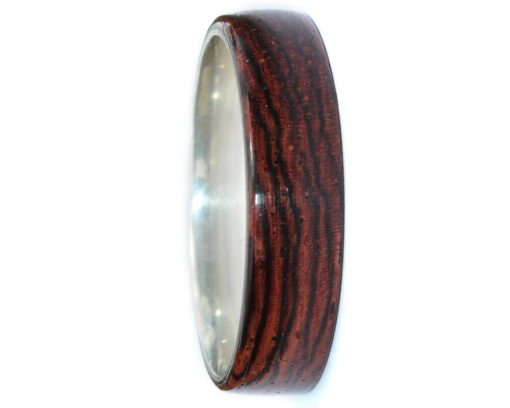 Rosewood inlay wood engagement rings for men