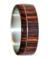 Cocobolo rosewood wooden wedding rings for couples