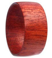 Handmade wooden ring bands with bloodwood