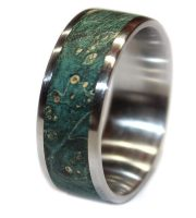 Turquoise burl wood ring mens gift