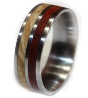 Custom wood rings for women or men handmade with burl
