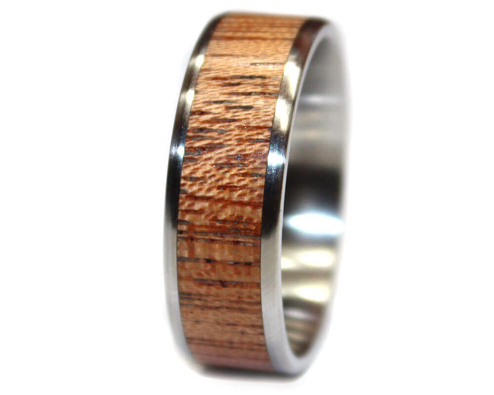 Mahogany and stainless steel wooden ring wooden rings for How to make a wooden ring
