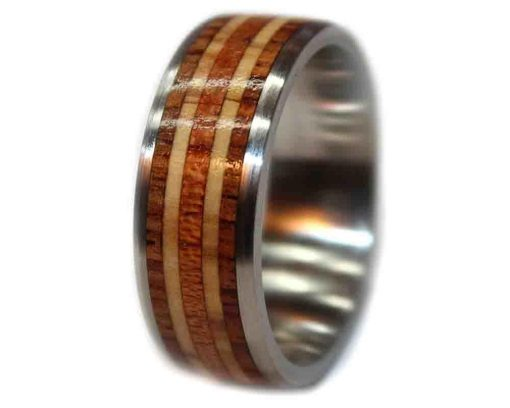 Rosewood wood rings womens with olivewood and mahogany