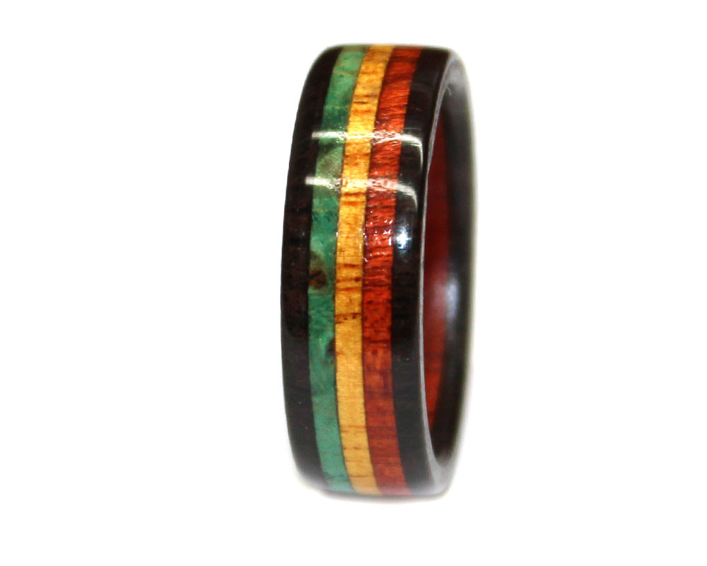 solid and sergeant black inlay berlinia rings generation with inner maroon wooden product mahogany