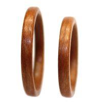 Birch wood rings set thin bentwood
