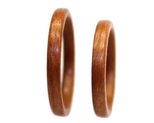 Birch wood rings set thin bentwood