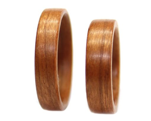Birch wooden rings set bentwood