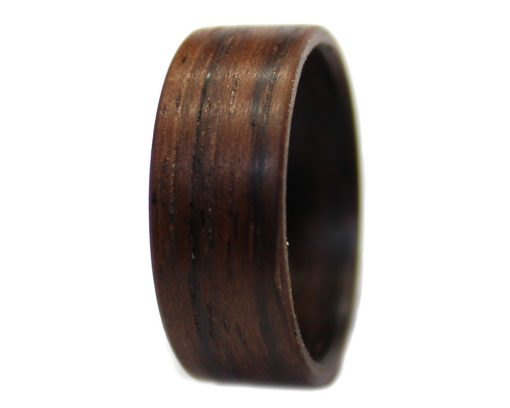 Bolivian Rosewood wooden ring wide bentwood