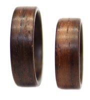 Bolivian Rosewood wooden rings set bentwood