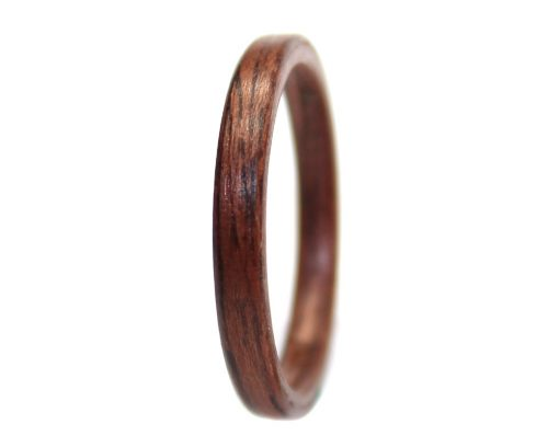 East Indian Rosewood wood ring thin bentwood