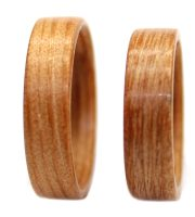 Heart Pine wooden rings set bentwood