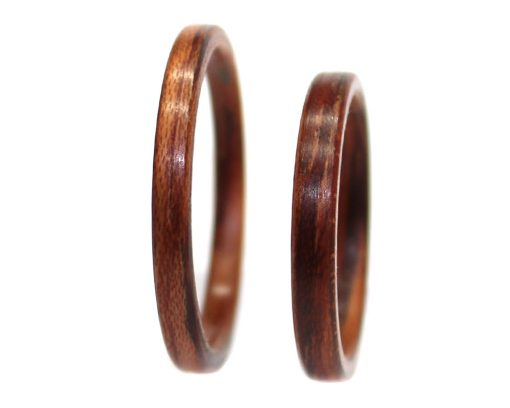 Honduras Rosewood wood rings thin bentwood
