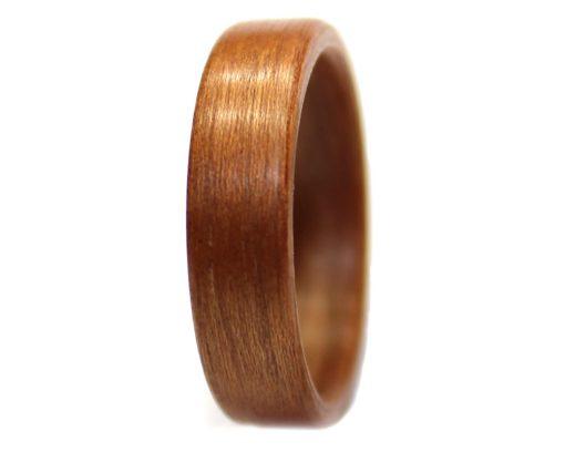 Mahogany wooden ring bentwood