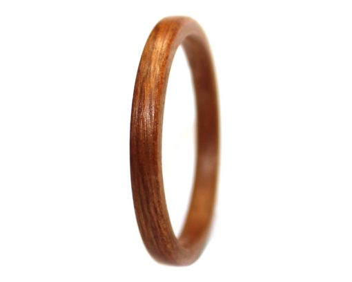 Mahogany wood ring thin bentwood