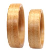 Pine wooden rings set bentwood