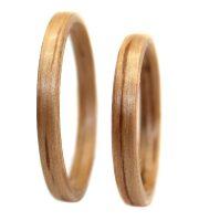 Red Oak wood ring thin set bentwood