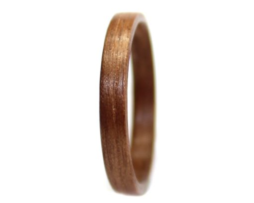 Walnut wood ring thin bentwood