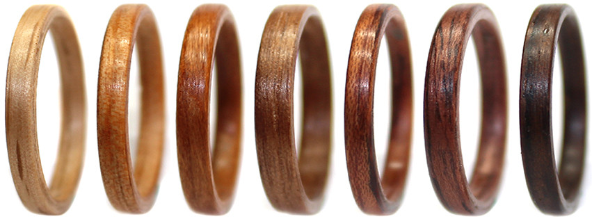 wooden ring bentwood multi