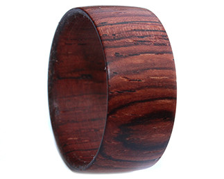 Rosewood wide wooden ring bands unique