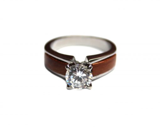 wood engagement ring rosewood
