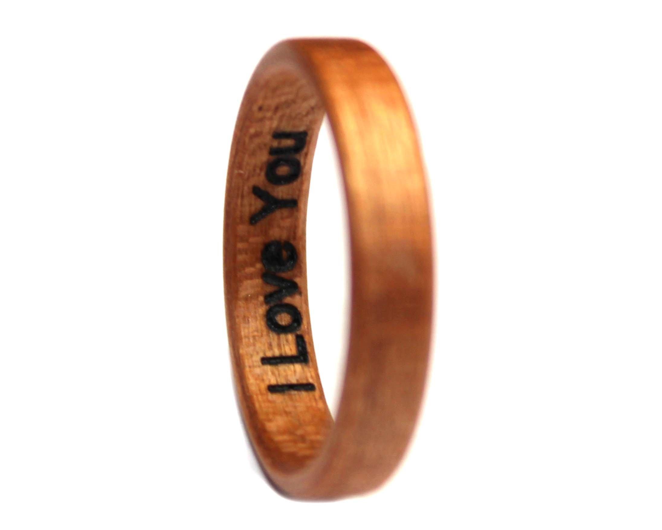 Inside wedding ring laser engraving