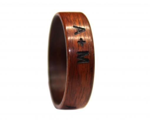 outside laser engraving wooden ring