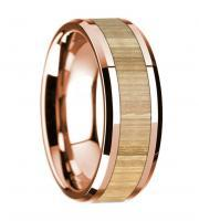 14k rose gold and birch wooden ring