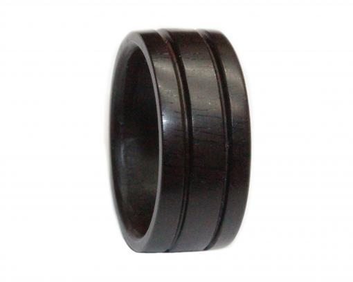 african blackwood grooved wooden ring