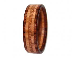rosewood olivewood and mahogany wooden ring