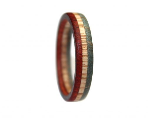 usa flag red white blue wood rings