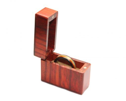 rosewood ring box magnetic lid for wooden rings