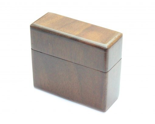 walnut ring box magnetic lid for wood rings